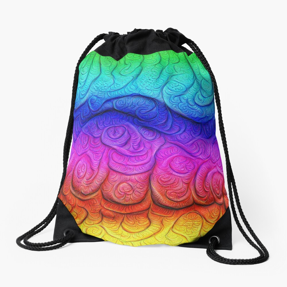 Color Foam levels #DeepDream Drawstring Bag