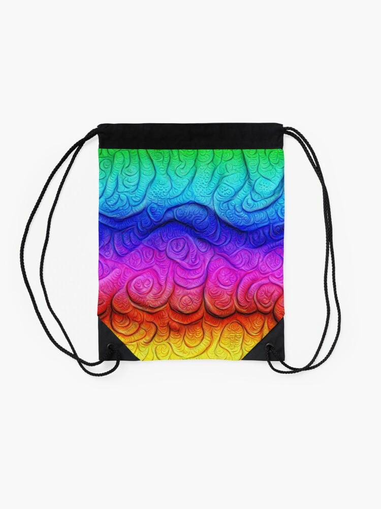 Alternate view of Color Foam levels #DeepDream Drawstring Bag