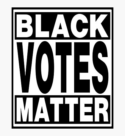 Black Votes Matter Photographic Print