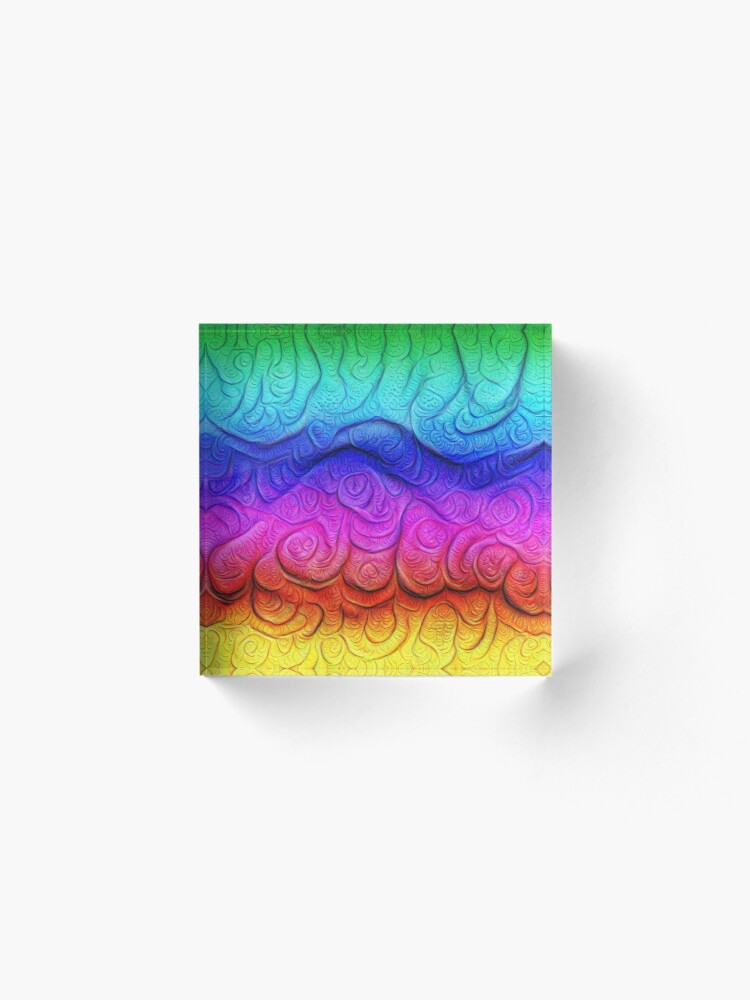 Alternate view of Color Foam levels #DeepDream Acrylic Block