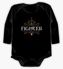 Body de manga larga para bebé RPG Fighter Class Fighters Dungeons Crawler y Dragons Slayer