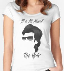 It's All About The Hair! Women's Fitted Scoop T-Shirt