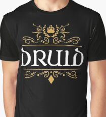 DnD Druid Druids Classic Dungeons and Dragons Inspired D&D Graphic T-Shirt