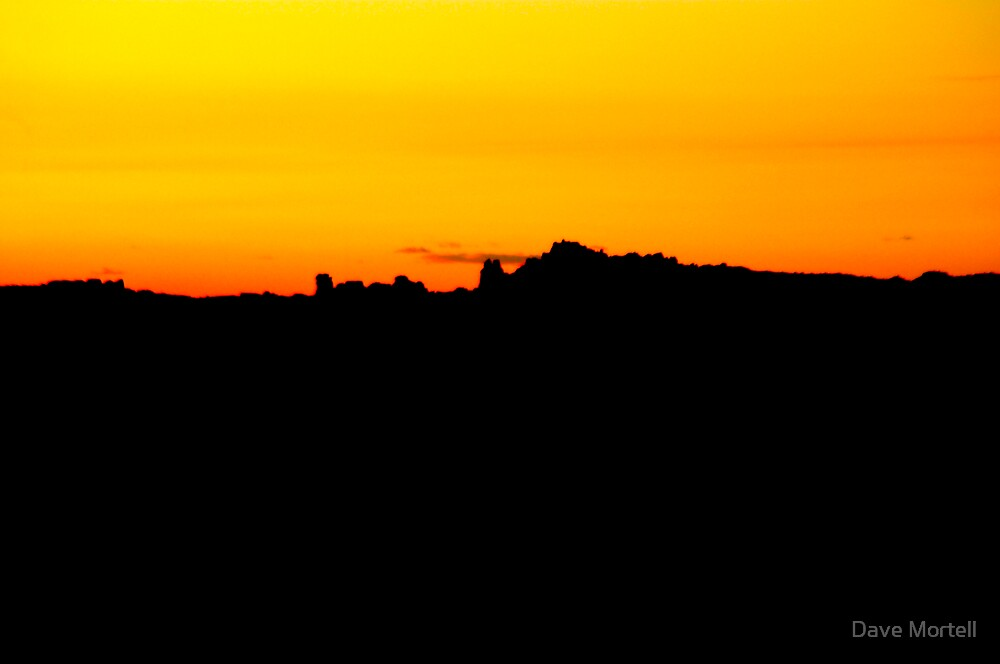 Sunset - Arches National Park by Dave Mortell