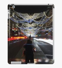The lego backpacker checking out the Christmas lights in London iPad Case/Skin