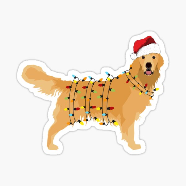 Christmas Dog Stickers | Redbubble