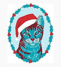 Christmas Cat Photographic Print