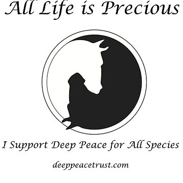 All Life is Precious (Black Writing) by Deeppeacetrust