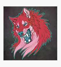 Ravewolf -Teal and Berry Photographic Print
