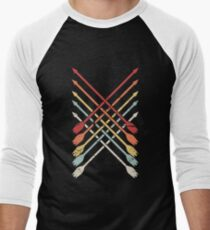 Retro Archery Bow Hunting Arrows Men's Baseball ¾ T-Shirt