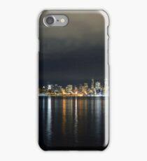 Flight Path Over The Seattle Skyline iPhone Case/Skin