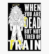 Goku ssj3 training Photographic Print