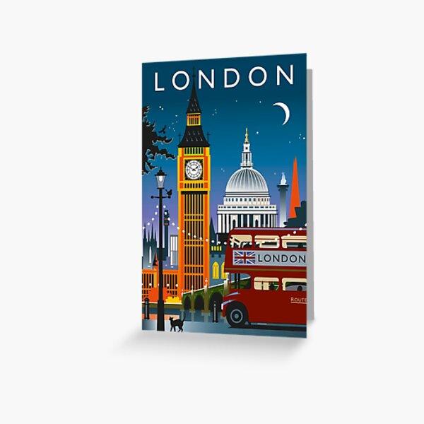 Noche de Londres Tarjetas de felicitación