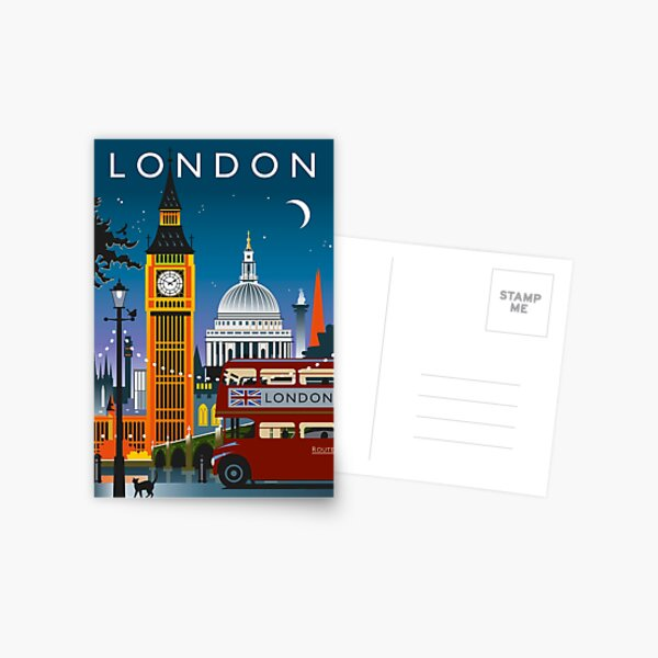 London Night Postcard