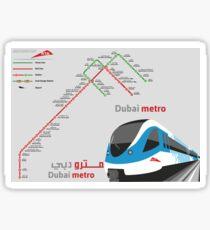 Dubai Metro Sticker