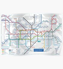 London Underground and City Map - HD Poster