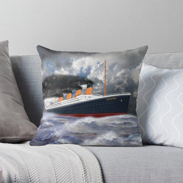 RMS Titanic the Legend 1912 Throw Pillow