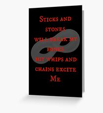 After Mr Grey...  Greeting Card