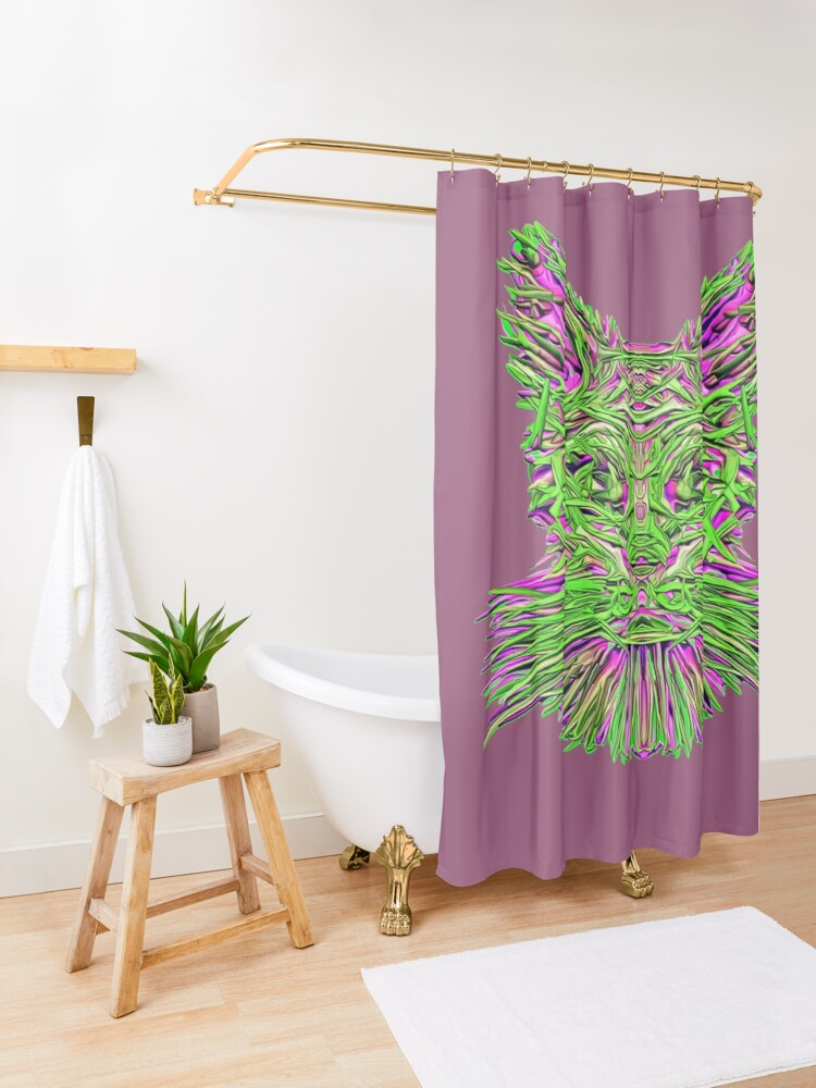 Alternate view of Where is my extraterrestrial Portal? Shower Curtain