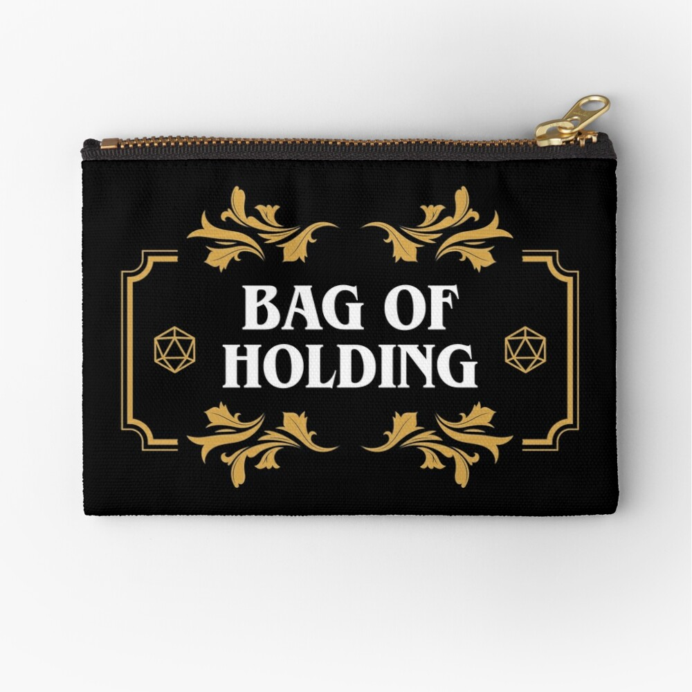 Bag of Holding Dice Container D20 Master Tabletop RPG Addict Zipper Pouch