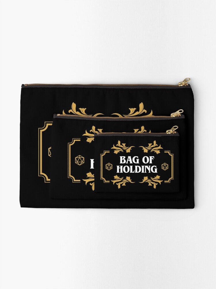 Alternate view of Bag of Holding Dice Container D20 Game Master Tabletop RPG Addict Zipper Pouch