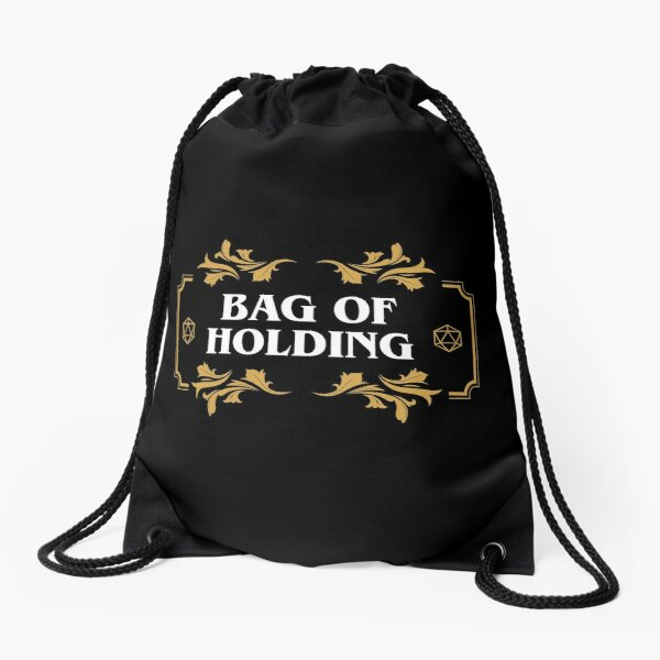 Bag of Holding Dice Container D20 Master Tabletop RPG Addict Drawstring Bag