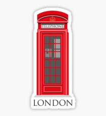 London Telephone Box Sticker