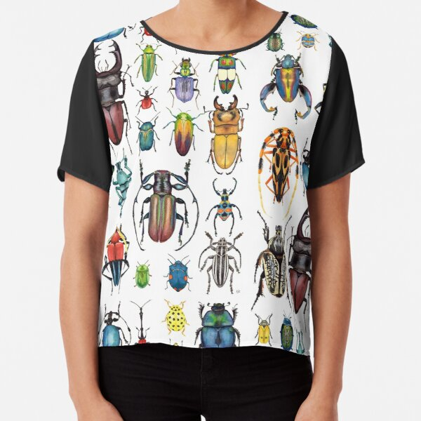 Beetle Collection Chiffon Top