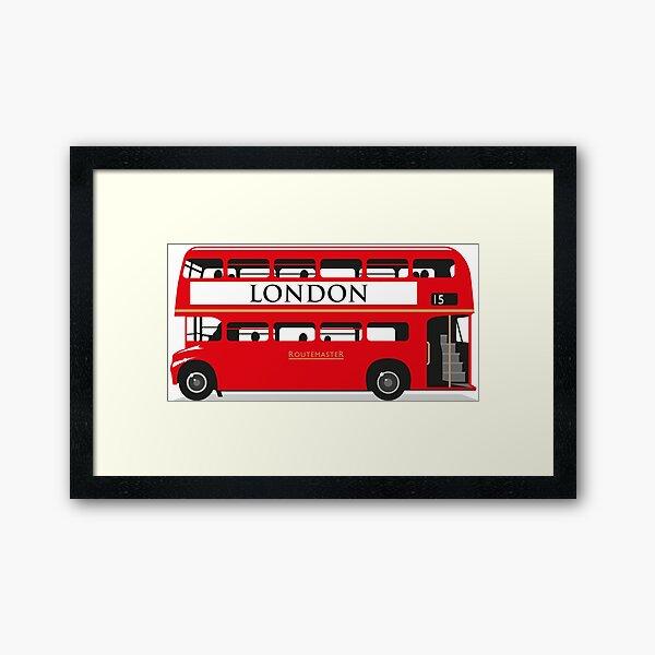 London Bus Framed Art Print