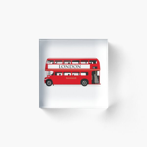 London Bus Acrylic Block
