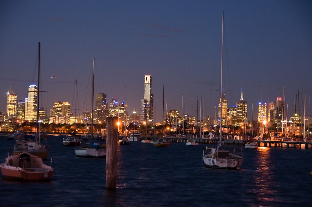 Melbourne at night by William Coronado
