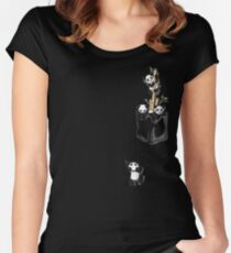 POCKET PANDAS Women's Fitted Scoop T-Shirt