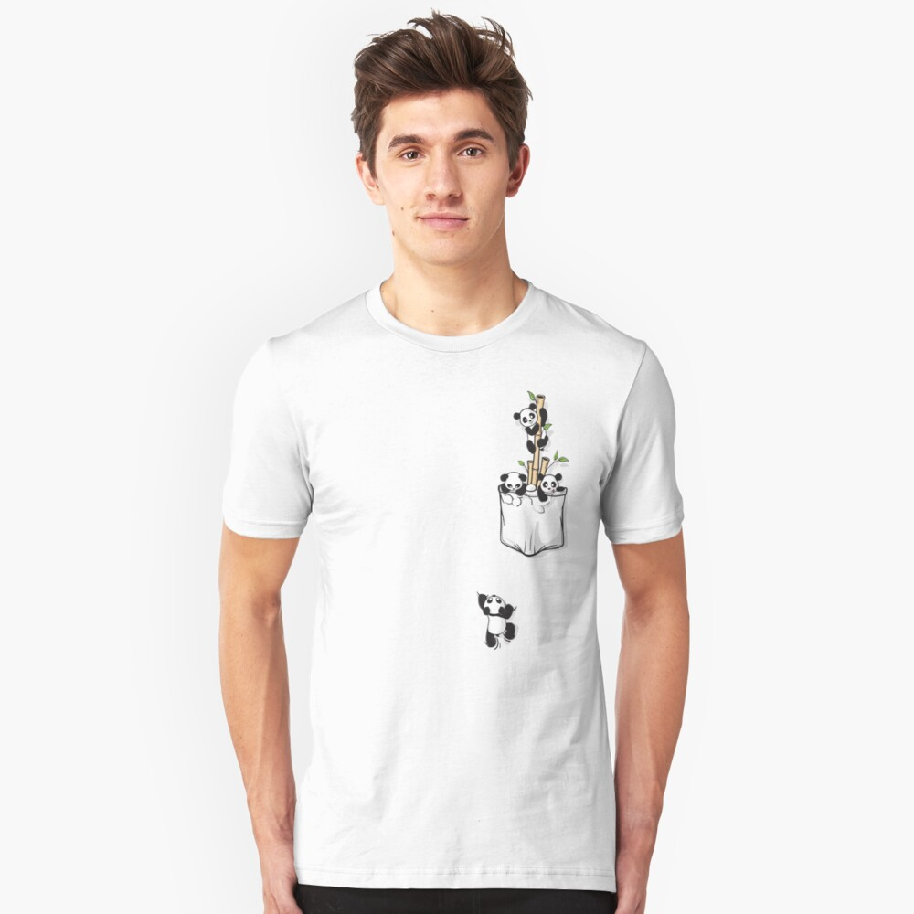 POCKET PANDAS Slim Fit T-Shirt