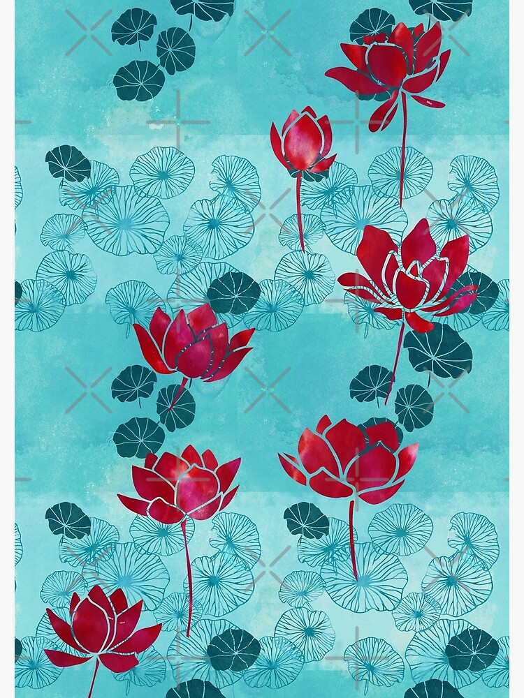Pure zen waterlily pattern by adenaJ
