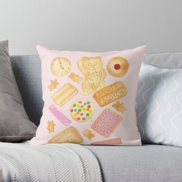 Biscuits In Bed Throw Pillow