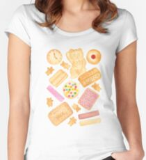 Biscuits In Bed Women's Fitted Scoop T-Shirt