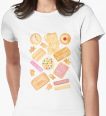 Biscuits In Bed Women's Fitted T-Shirt
