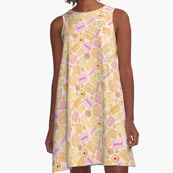 Assorted Biscuits - Pink A-Line Dress