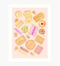 Assorted Biscuits - Pink Art Print