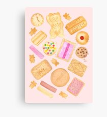 Assorted Biscuits - Pink Canvas Print