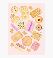 Assorted Biscuits - Pink Photographic Print