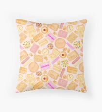 Assorted Biscuits - Pink Throw Pillow