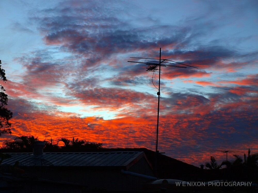 SUBURBAN SUNSET by W E NIXON  PHOTOGRAPHY