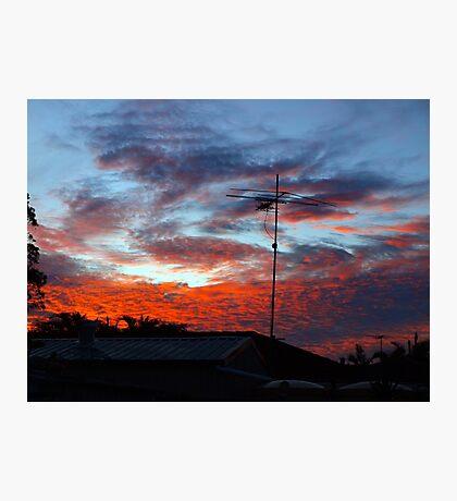 SUBURBAN SUNSET Photographic Print