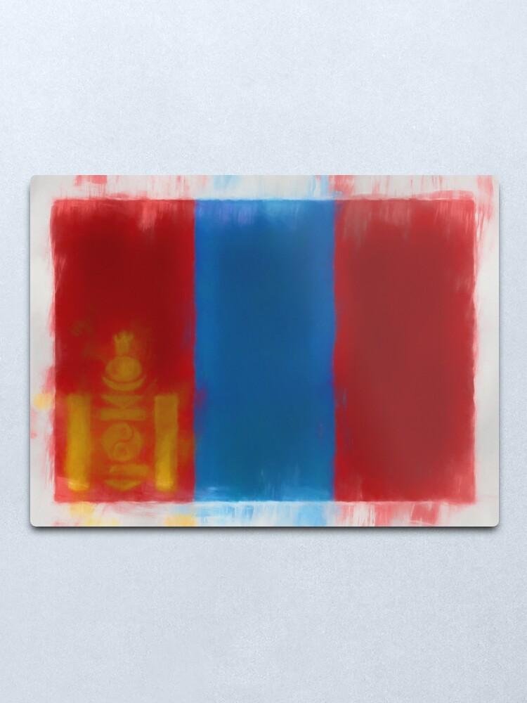 Alternate view of Mongolia Flag Reworked No. 66, Series 1 Metal Print