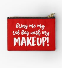 Red Bag with Makeup Anfisa Studio Pouch