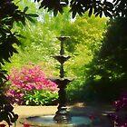 A Ladew Fountain by Marilyn Cornwell