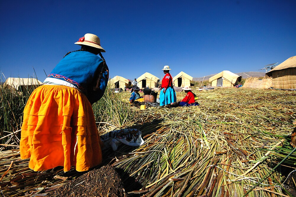 Women, Titicaca Lake, Peru by Monica Di Carlo