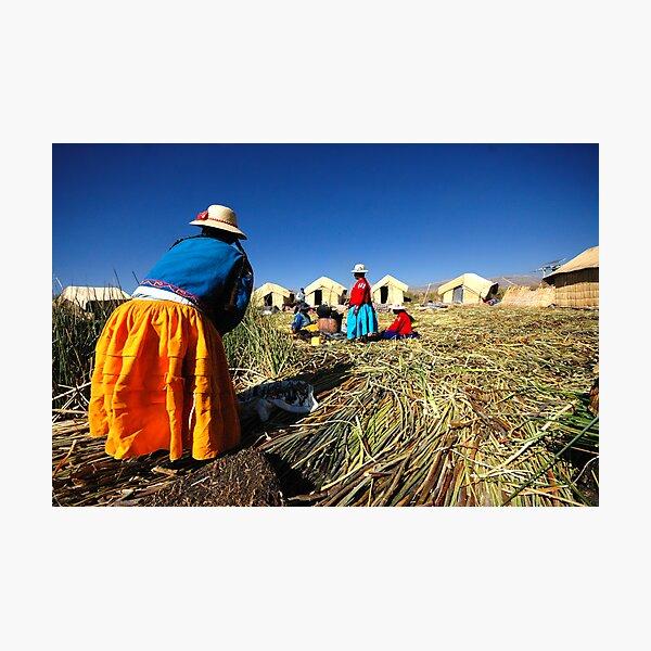 Women, Titicaca Lake, Peru Photographic Print