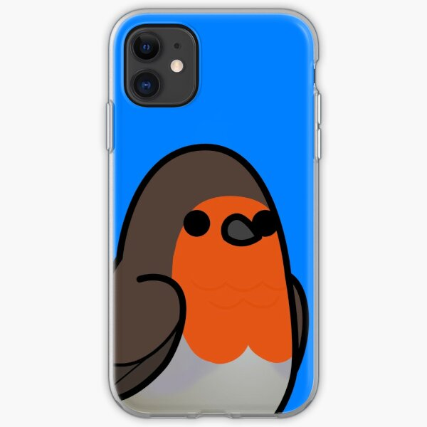 Too Many Birds! - Red-Breasted Robin iPhone Soft Case